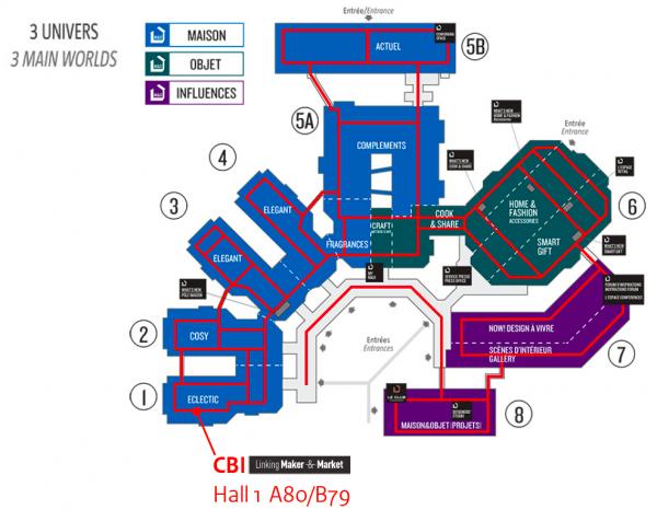 Maison & Objet Floorplan - 2017