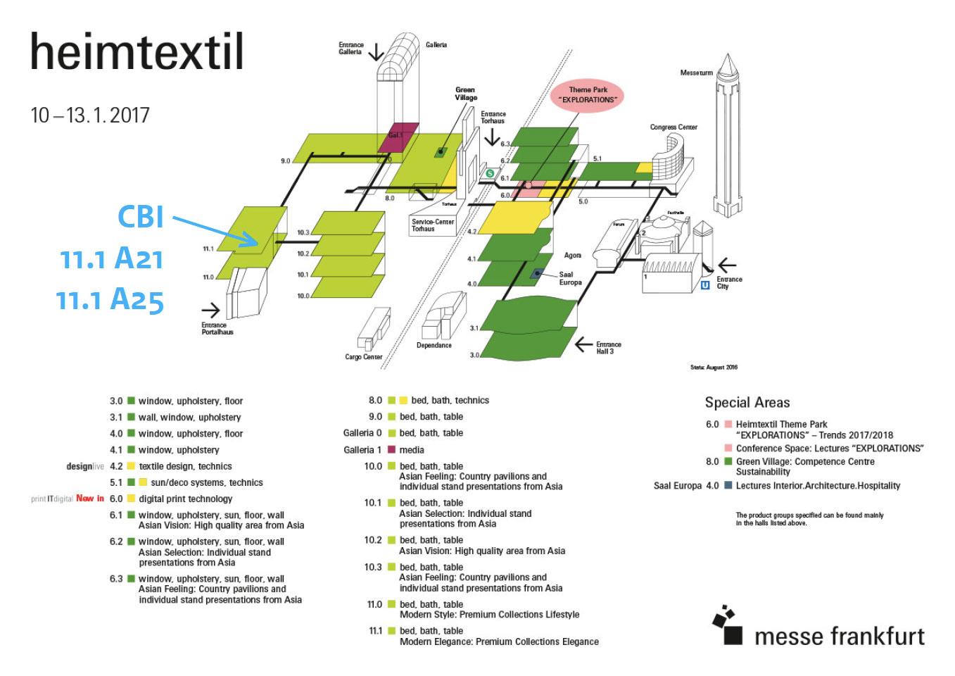 heimtextil 2017 floorplan