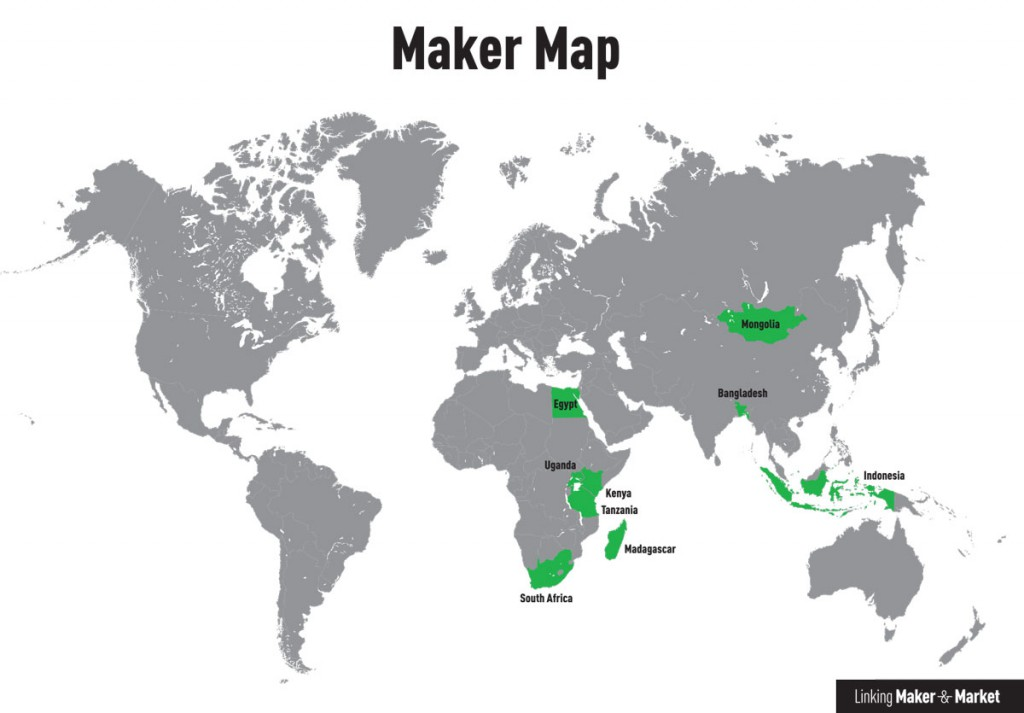 Linking Maker & Market - Country Programmes map