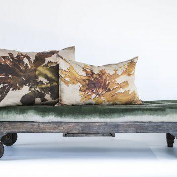 Nitiphyllum Green Cushion - Printed