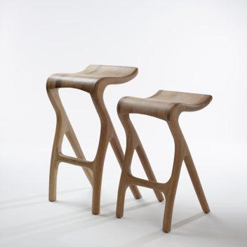 Meyer von Wielligh - Umthi bar stool Iroko