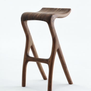 Meyer von Wielligh - Umthi bar stool in Walnut