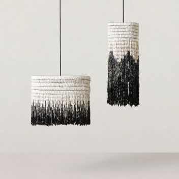 Upcycled Paper Bead Lampshades