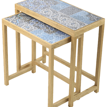 Embroidered Wooden Table