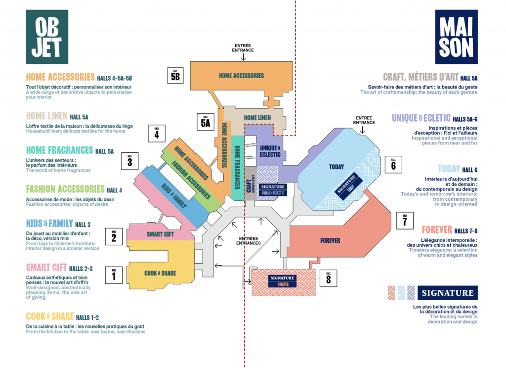 Maison et Objet Paris 18-22 January 2019 - Floorplan