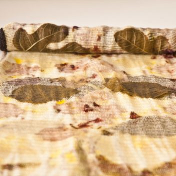 Fine Knit Throw – Botanical Eco print