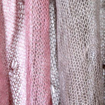 Kidsilk knit wrap - Colour Blocked