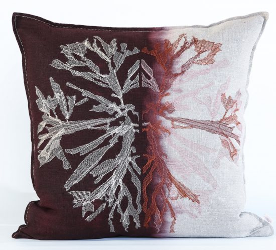 Nitiphyllum Cushion - Embroidered