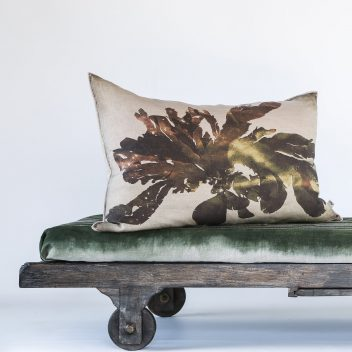 Nitiphyllum Green Cushion - Printed