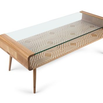 UMUNTU GLASS TOP COFFEE TABLE