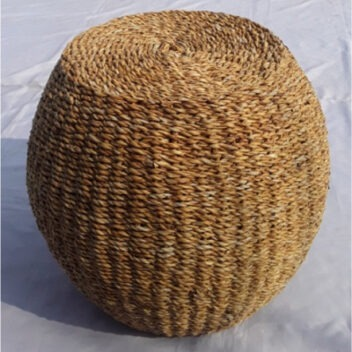 Artisan Creations - Seagrass Pouf