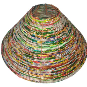 JNDP Crafts - Lampshade Recycled Material