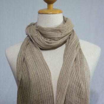 Lotus Silk House - natural dye cotton scarf