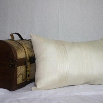 Lotus Silk House - golden silk cushion