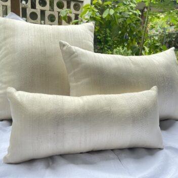Lotus Silk House - golden silk cushions