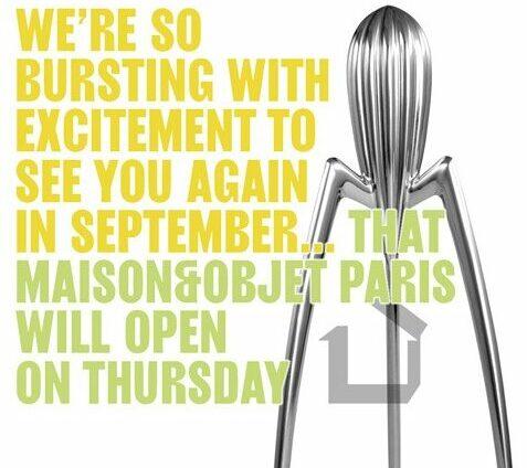 Maison et Objet Paris 9-13 September 2021