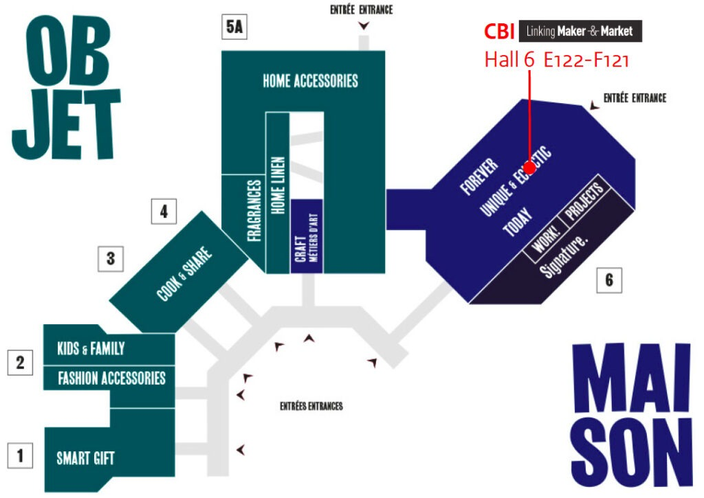Maison et Objet Paris 9-13 September 2021 - Floorplan