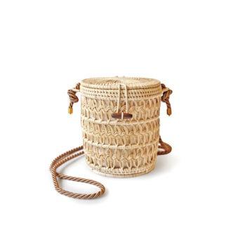 MANAVA - pataga bag hand-woven rattan cotton lining