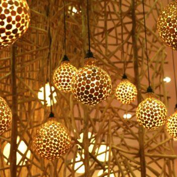 Wisanka - Dandelion Hanging Lamp with Teak