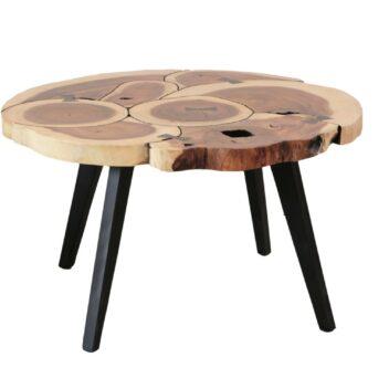 Sentana Art Wood - Round Ribbon Coffee Table