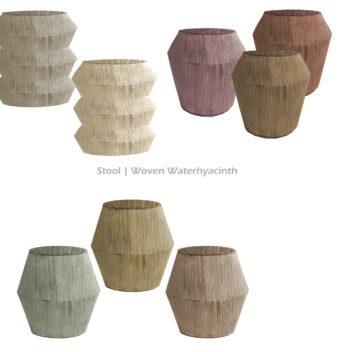 Stool Woven Waterhyacinth